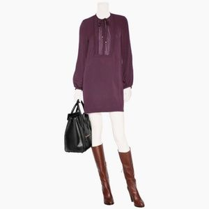 DVF 100% Silk Jasleen Dress in Sweet Plum Size 2